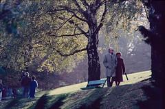 Quiétude (RarOiseau) Tags: parc croix automne arbre allée 1986 diapositivenumérisée nord contrejour ville saariysqualitypictures