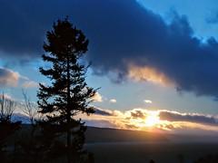 Sunset (Orion 2) Tags: ganderlake dusk bluetones blacksprucetrees snowshoeing north hilly mountainssnowshoesareawesome newfoundlandandlabrador canada