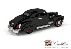Cadillac 1941 Series 62 Coupe (lego911) Tags: cadillac 1941 1940s classic vintage series 62 coupe gm general motors auto car moc model miniland lego lego911 ldd render cad povray v8 usa america luxury