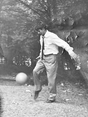 "Daddy playing football #film #france #filmisnotdead (""Olivier Jules"") Tags: film france filmisnotdead"
