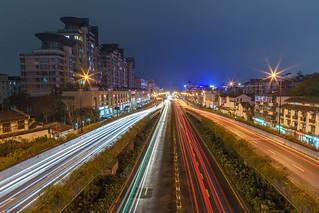 Hangzhou light trails