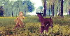 """"""" same here toots """" (Shantell90) Tags: secondlife sl girl animals grass sky trees lanscape"""