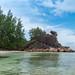 Beach on Curieuse island Seychelles
