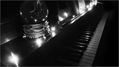 88 Keys and a Million Fingerprints (halfpintharmony) Tags: monochrome blackwhite piano bokeh pianokeys music
