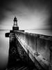 Leuchtfeuer (McGeiwa) Tags: wilhelmshaven kai beton wasser wolken leuchturm langzeitbelichtung treppe algen