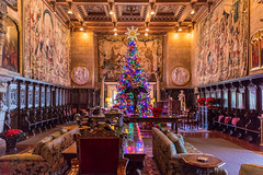 The Great Room at Christmas, Hearst Castle (Jill Clardy) Tags: christmas2017 great room gathering hearst castle la encantada san simeon state park ca california museum tree decorated tapestry tapestries 201712294b4a7412