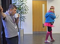 yeah yeah (Mick Steff) Tags: man woman cup tea cheerleader stripes socks headband