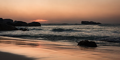 The sunset and the changing colors (hjuengst) Tags: southafrica sunset clifton beach rocks ocean atlanticocean wave capetown