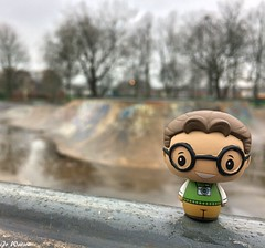 Pint Sized Pete! (JoeyDee83) Tags: funko pop dorbz pint size hero superhero spiderman peter parker new york warrington nature skate park skateboard photography marvel comic book vinyl toy geek
