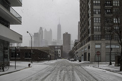 Not a day for skylines (aerojad) Tags: eos canon 80d dslr 2018 winter outdoors chicago snow snowing cold cityscape streetphotography streetscape skyline hancockbuilding