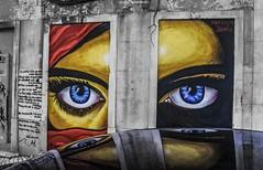 Olhe-me nos olhos [Look me in the eyes] (Paullus23) Tags: graffiti grafite portugal eye eyes olhos olho reflection reflexo marciobahia intendente lisbon lisboa lisboagraffiti lisbongraffiti muro abandoned abandonado wall
