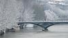 Paris en blanc (Corinne Queme) Tags: paris neige pont arts seine crue arbres blanc