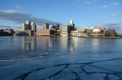 Museum of Science (ewan.osullivan) Tags: ice river boston charles charlesriver reflection museumofscience winter