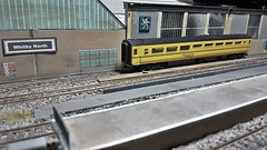 Network Rail Facilites During Engineering Work. (ManOfYorkshire) Tags: mk3 networkrail network rail engineering work planned whitby whitbynorth lima coach carriage repainted detailed yellow 176 scale oogauge yard sidings stabled facilities workers