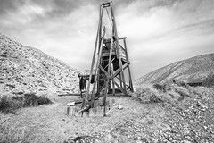 Opal Canyon, Death Valley National Park, Inyo County, California (paccode) Tags: solemn d850 landscape desert canyon nationalpark brush blackwhite hills california abandoned barn monochrome mojave bushes scary creepy forgotten serious quiet mountain bigpine unitedstates us