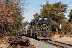 W&W CM-31 @ Cedarville, NJ (Dan A. Davis) Tags: ww winchesterandwestern gp9 freighttrain railroad locomotive train dividingcreek nj newjersey cm31
