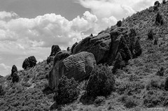 Red Rocks Trail (dpsager) Tags: bw colorado dpsagerphotography denver eos1v film hiking ilfordfp4 redrocks redrockspark redrockstrail morrison