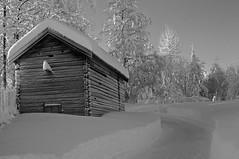 Norwegian nature (steffos1986) Tags: nature landscape landschaft house snow winter ice cold blackwhite monochrom pentaxkx light sun farm farmland norway norwegen noruega norge