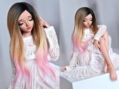 (4arllin) Tags: bjd doll msd mnf minifee chloe tan sp wig toy alpaca sleeping
