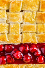 Dessert - She's my Cherry pie (sashdc) Tags: dessert cherry pie lines food composition pastry lattice crust