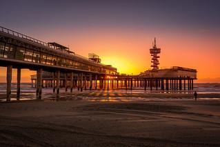 Pier at sunset... [Scheveningen, Den Haag, The Netherlands - 2015]