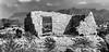 Terlingua Ruins (Wes Iversen) Tags: blackwhite htt terlingua texas texturaltuesday desert monochrome mountains rocks ruins stone texture vegetation