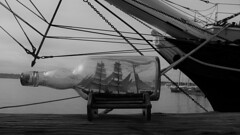 Ship Ahoy! (Rand Luv'n Life) Tags: odc our daily challenge ships nautical sailing antique ship in bottle star india san diego california two years before the mast richard henry dana monochrome blackandwhite outdoor harbor text rigging wood water