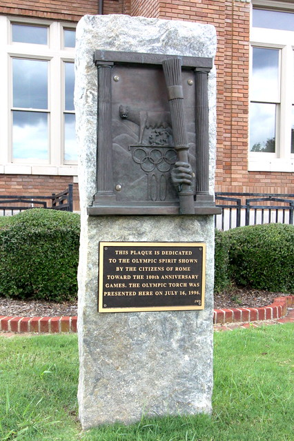 Olympic Torch Plaque - Rome, GA