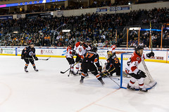 """Kansas City Mavericks vs. Cincinnati Cyclones, February 3, 2018, Silverstein Eye Centers Arena, Independence, Missouri.  Photo: © John Howe / Howe Creative Photography, all rights reserved 2018. • <a style=""""font-size:0.8em;"""" href=""""http://www.flickr.com/photos/134016632@N02/39220094435/"""" target=""""_blank"""">View on Flickr</a>"""