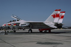 F-14A Tomcat 158984 of VF-1 NK-105 (JimLeslie33) Tags: 158984 f14 f14a grumman vf1 vf nas miramar tomcat cvn65 cvan65 fighter fightertown cvw14 uss enterprise naval aviation navy usn wolf pack olympus om1