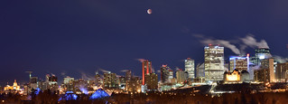Full lunar eclipse over Edmonton
