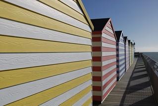 Beach Huts on Hastings Pier....