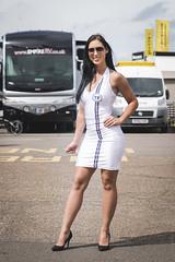 British GT Championship Snetterton 2017 - TF Sport grid girl Demi (Sacha Alleyne) Tags: britishgtchampionship pirelli motorsport racing 2017 pitlane babe grid umbrella pit promo promotional girl brunette