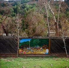 New Almaden Mural (bior) Tags: newalmaden mural painting sanjose mediumformat 120 hasselblad500cm ektar kodakektar