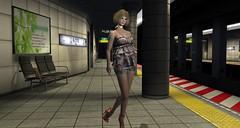 Hays is waiting for train at Tokyo subway (HAYSURIZA) Tags: second life haysuriza designer showcase