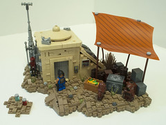 Tales on Tatooine: Dealing For Droids (Ben Cossy) Tags: lego star wars moc tatooine jawa jawas droid rebels clone afol tfol desert