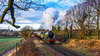 B12 on the branch (Peter Leigh50) Tags: b12 8572 steam locomotive engine train rail railroad line track trains countryside rural outside great central railway winter gala 2018 gcr fuji xt10 fujifilm