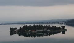 Κενό (Argyro Poursanidou) Tags: landscape sea bad weather dark darkness sky cloud water reflection island