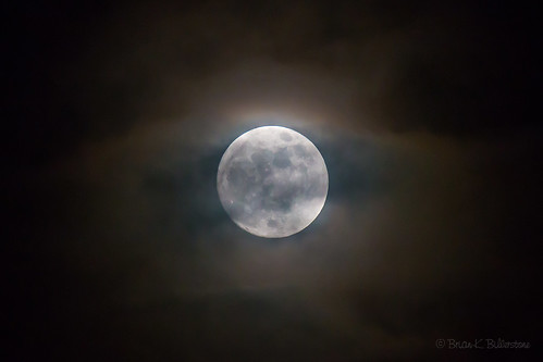 Blue Supermoon in Cloud