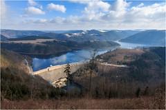 Der Hohenwarte Stausee von Oben (linke64) Tags: hohenwarte hohenwartestausee thüringen deutschland natur landschaft himmel wasser wolken stausee winter berge wald bäume germany