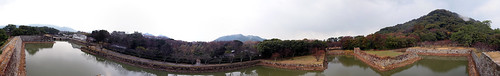270 Degrees' View From Hagi Castle Moat Wall