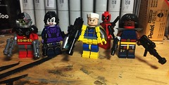 Guns and Pouches (Lord Allo) Tags: lego xmen xforce x men deathlok domino cable deadpool bishop
