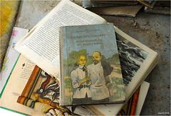 In a Pripyat School. (Aad P.) Tags: chernobyl чорнобиль pripyat припять ukraine україна sovietunion cccp nuclearpowerplant radioactivity radiation urbex urbexphotography exclusionzone school library books