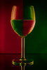 Glass (Riot Photography 101) Tags: wine glass wineglass illusion red green stilllife