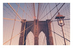 Brooklyn Bridge at sunset (Italian man in New York) Tags: walk sunset love newyork ny brooklynbridge