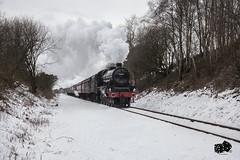 45690 Leander (craigelias1) Tags: leander elr east lancs lancashire railway steam snow train tracks loco locomotive 45690 jubilee class lms