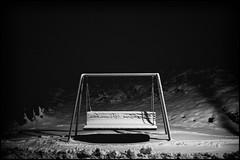 Finally some snow (Christopher Anderzon) Tags: blackandwhite nightphotography nightpic nightphoto street light streetlight black moody dramatic swing fujifilm xe1 xf27mm xf27mmf28 snow winter winterphotography