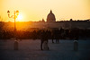 When the sun goes down (lorenzoviolone) Tags: d5200 dslr goldenhour nikon nikond5200 reflex sunset vsco vscofilm basilica church dome park silhouettes stpetersbasilica strangers flickr:explore=true fav10 fav25 fav50 fav100