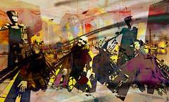 supplication 2018 / Artist : Haveit Neox (Bamboo Barnes - Artist.Com) Tags: vivid bamboobarnes blue green red yellow manipulation digitalart virtualart haveitneox accalpha secondlife installation supplicate people castle surreal