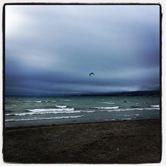 Surfing on Leman (Iris_14) Tags: préverenges léman vaud romandie suisse switzerland schweiz vent nature hiver kitesurf
